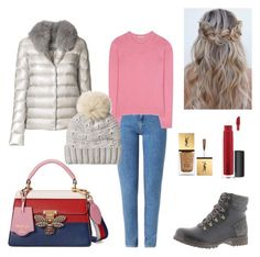 """""""Untitled #133"""" by sleepintheclouds ❤ liked on Polyvore featuring Wrangler, Miu Miu, Herno, Woolrich, Gucci, Timberland, John Lewis and Yves Saint Laurent"""