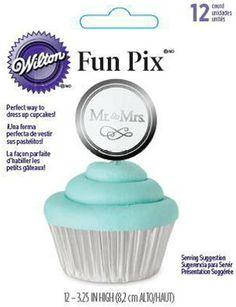 Make it official!  Mr & Mrs Wedding Fun Pix by Wilton