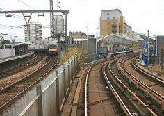 Stepney East station looking east in September 2007. The DLR's Limehouse Station now stands on the site of the former Stepney East station Photo by Nick Catford