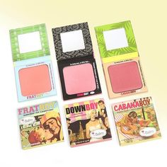 Have a summer fling with one of these boys.  theBalm's Frat Boy, Down Boy, and Cabana Boy blushes are perfect for all skin tones & types and will last all day through the summer heat. Shop theBalm in-store and online by clicking the link in our bio.  Photo: theBalm Cosmetics