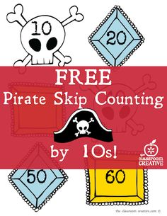 free pirate math activity- skip counting by 10s