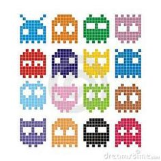 Fun pixel monsters to hama