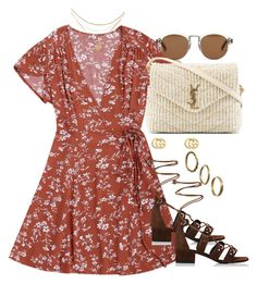 """""""Untitled #4231"""" by theeuropeancloset on Polyvore featuring Gucci, Yves Saint Laurent, Made and Madewell"""
