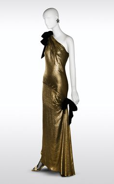 Evening dress | Yves Saint Laurent | Haute Couture Fall 1978 | Madrid exhibition