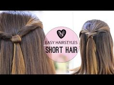 EASY HAIRSTYLES FOR SHORT HAIR. Style #1 and #2