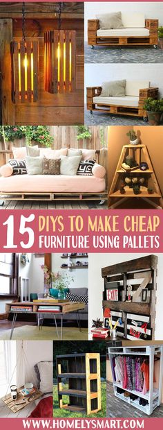 Save some money with cheaper DIY furnitures! Bar table, pallet dresser, dining table and more! See more via homelysmart.com