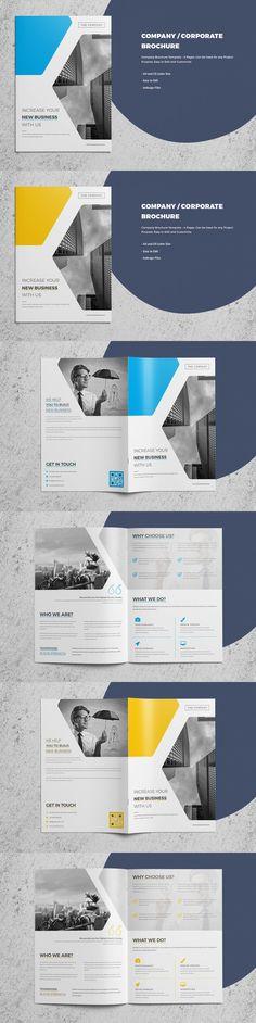 Corporate/Company Brochure - 4 Page. Brochure Templates. $9.00