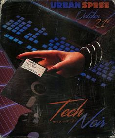 A retro promo poster for a synthwave event. Love the faded print, and especially those scratches!