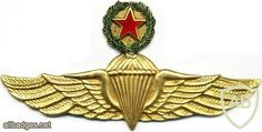 COLOMBIA Master Parachutist wings, type 2