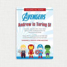 Avengers Birthday Invitation Superhero Birthday by MsfitDesigns, $17.00