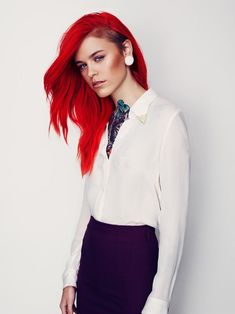 If I was daring enough, and not afraid of my hair not doing what I want it to do, I would so do this cut. And color