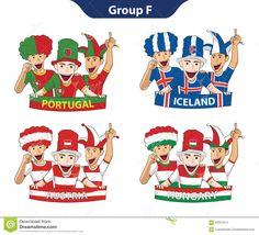 Euro 2016 Der Gruppen-F Vektor Abbildung - Bild: 65637014