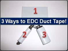 3 Easy Ways to Carry Duct Tape With You at ALL Times!