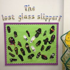 Children created their own glass slippers for Cinderella!