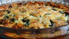 Spinach, Onion and Feta vegetarian tart