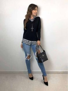 7 amazing looks to wear at work Sporty Outfits, Classy Outfits, Stylish Outfits, Fall Outfits, Casual Chic, Mode Swag, Look Fashion, Fashion Outfits, Womens Fashion