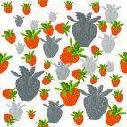 Muster-Motiv Erdbeeren