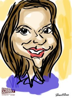 iPad caricatures with Scribbly marker