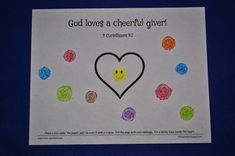 faith sprouts: A Cheerful Giver