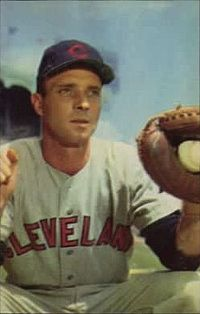 "Jim Hegan, catcher for the Indians in their 1940's ""heyday"""