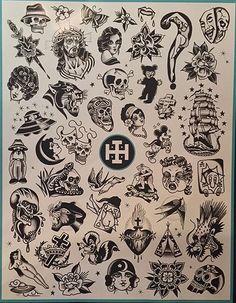 Flash Tattoo Flash Sheet, Tattoo Flash Art, Tattoo Sketches, Tattoo Drawings, Russian Tattoo, Old School Tattoo Designs, Knuckle Tattoos, Witch Tattoo, Doodle Tattoo