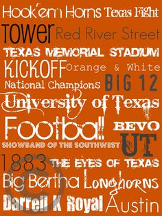 University of Texas Subway Art Print by aworley on Etsy, $15.00