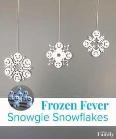 Snowgies are the cutest snow creatures in all the land (including Arendelle and beyond). Bring the winter wonderland indoors (minus the cold) with playful DIY Snowgie Snowflakes. They're a fun craft for all ages, and create beautiful garlands for parties or just because.