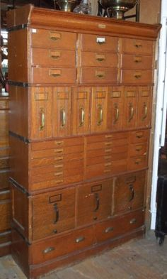 """Barrister file cabinet, """"The Globe Document File"""" by Globe Wernicke. $2795.00 AF51 image"""