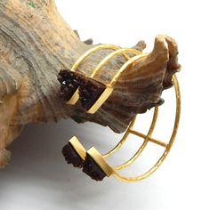 Gorgeous Bangle  Handmade Hammered Druzy Bangle by darlingpiece