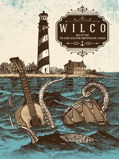 Wilco poster by Status Serigraph