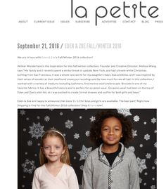 Thank you La Petite Magazine for featuring our new Winter Wonderland collection!