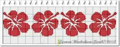 Beaded Embroidery, Cross Stitch Embroidery, Cross Stitch Designs, Cross Stitch Patterns, Hibiscus, Maori Patterns, Tapestry Crochet Patterns, Graph Design, Crochet Chart