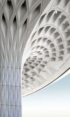 SOM architects' impressive fractal roof canopy for Mumbai International Airport.