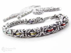 A personal favorite from my Etsy shop https://www.etsy.com/listing/166115262/choose-your-color-chainmaille-bracelet