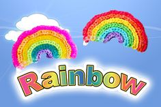 Rainbow Loom Rainbow, Coaster, 3D Umbrella Tutorial - One Loom