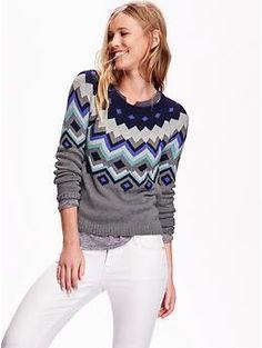 Women's Fair Isle Sweater | Old Navy