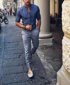 Loafers style by Mariano Di Vaio Mode Masculine, Trendy Summer Outfits, Casual Outfits, Casual Summer, Men Summer Style, Summer Men, Men Looks, Fashion Mode, Mens Fashion