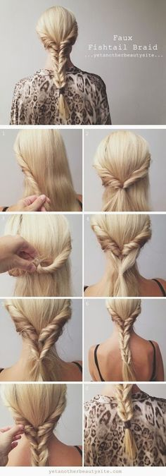 Coiffure simple et belle pour cheveux longs