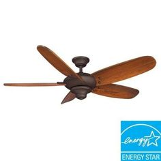 Hampton Bay Altura 56 In Indoor Oil Rubbed Bronze Ceiling Fan 56269 At The Home Depot Mobile