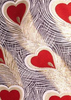 西陣織 袋帯 孔雀