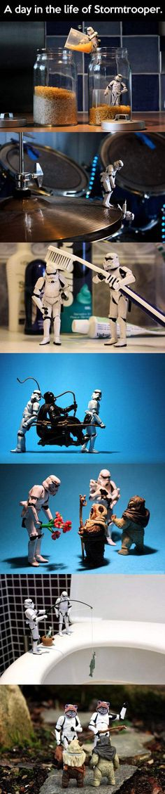 A day in the life of a Stormtrooper.