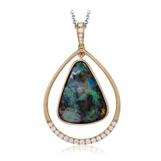 MP1793-Simon G. rose gold and-australian boulder opal diamond necklace pendant