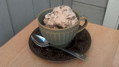 Homemade Earl Grey and Brussels Cookies ice cream to celebrate Ice Cream Month!