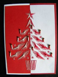 Stitching Card - Christmas tree by Splitcoaststampers