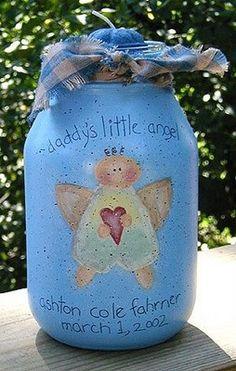Little Angel Jars - Crafts by Amanda