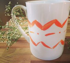 A personal favorite from my Etsy shop https://www.etsy.com/listing/222309943/indian-chevron-hand-painted-mug