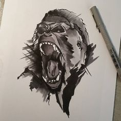 One #gorilla coming up!.. Posted at http://springtattoo.com/eng/daily-tattoos-and-news/