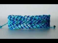 tutoríal pulsera macramé ancha | bracelet macramé - YouTube