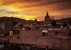 Sunset over San Miguel de Allende - Guanajuato Mexico Photography by Nick Laborde