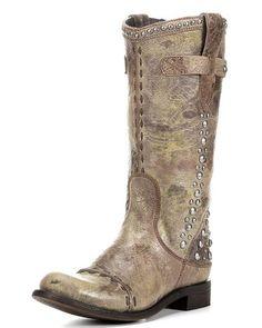 Women's Chloe Stud Boot - Crackle Tan,